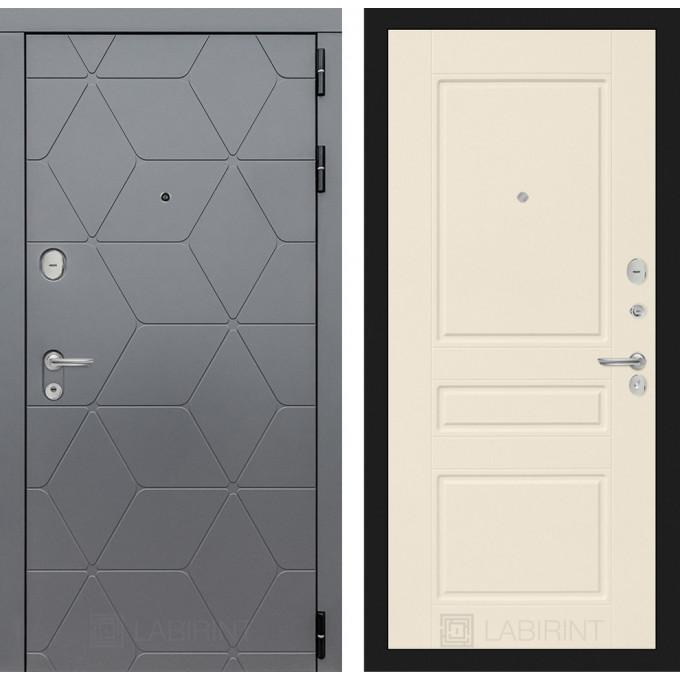 Стальная дверь Лабиринт COSMO 03 (Крем софт)