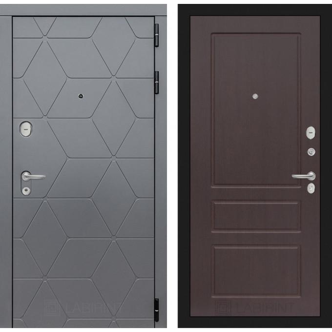 Стальная дверь Лабиринт COSMO 03 (Орех премиум)