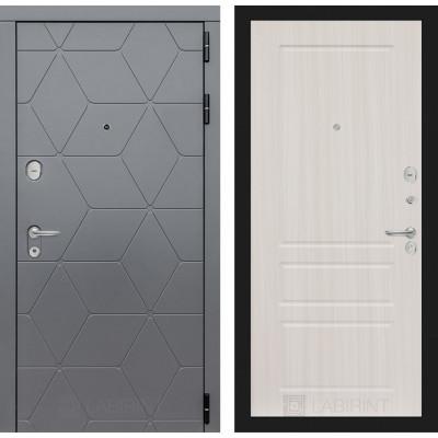 Стальная дверь Лабиринт COSMO 03 (Сандал белый)