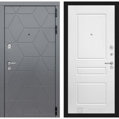 Стальная дверь Лабиринт COSMO 03 (Белый софт)