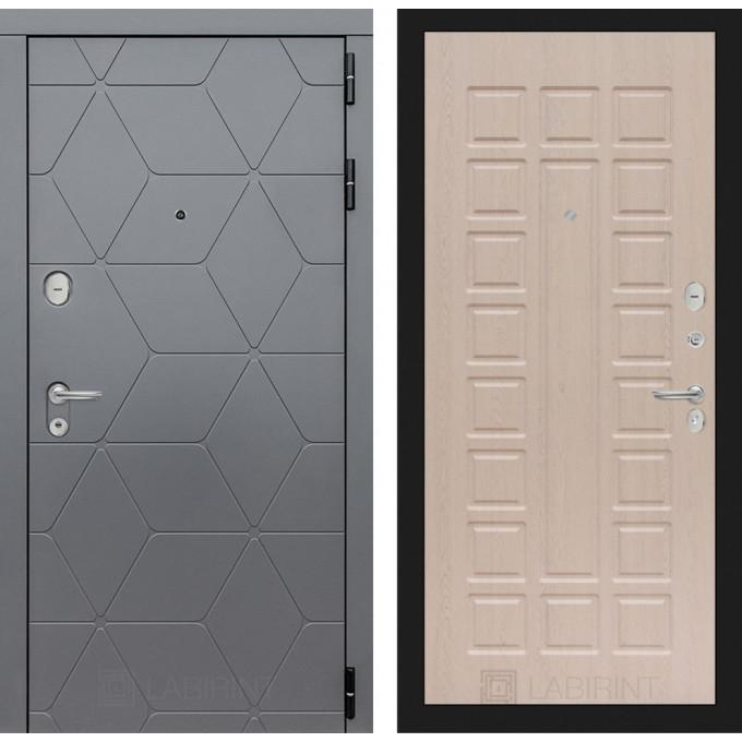 Стальная дверь Лабиринт COSMO 04 (Беленый дуб)
