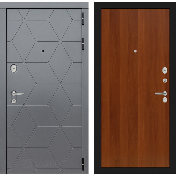 Стальная дверь Лабиринт COSMO 05 (Итальянский орех)