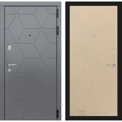 Стальная дверь Лабиринт COSMO 05 (Беленый дуб)