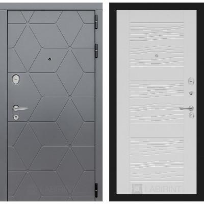 Стальная дверь Лабиринт COSMO 06 (Белое дерево)
