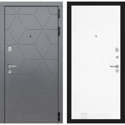 Стальная дверь Лабиринт COSMO 07 (Белое дерево)