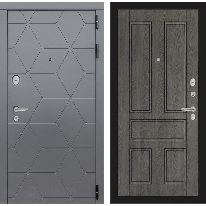 Стальная дверь Лабиринт COSMO 10 (Дуб филадельфия графит)