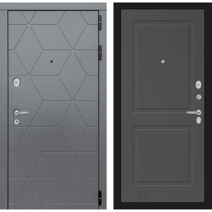 Стальная дверь Лабиринт COSMO 11 (Графит софт)