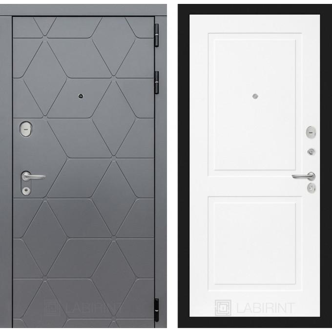 Стальная дверь Лабиринт COSMO 11 (Белый софт)