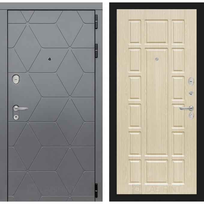 Стальная дверь Лабиринт COSMO 12 (Беленый дуб)
