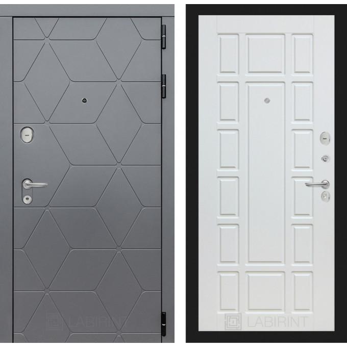 Стальная дверь Лабиринт COSMO 12 (Белое дерево)
