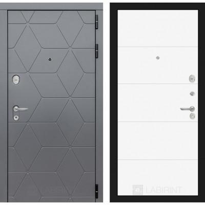 Стальная дверь Лабиринт COSMO 13 (Белый софт)