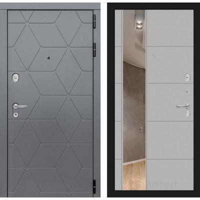 Стальная дверь Лабиринт COSMO 19 с зеркалом (Грей софт)
