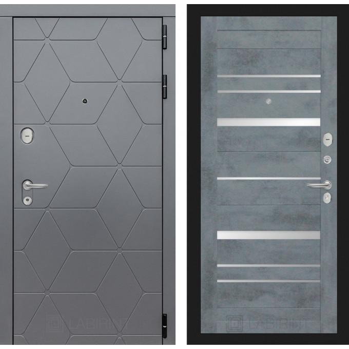 Стальная дверь Лабиринт COSMO 20 (Бетон темный)