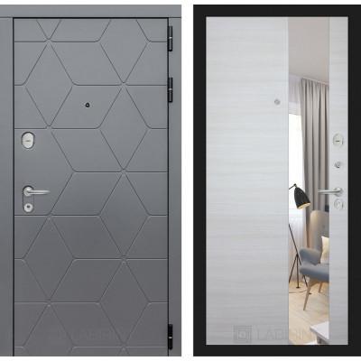 Стальная дверь Лабиринт COSMO с зеркалом (Акация светлая)