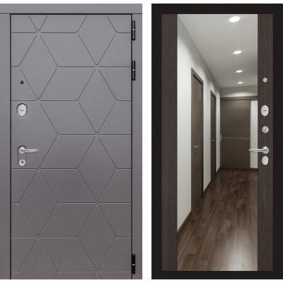 Стальная дверь Лабиринт COSMO Максимум с зеркалом (Венге)