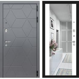 Стальная дверь Лабиринт COSMO Максимум с зеркалом (Белый софт)