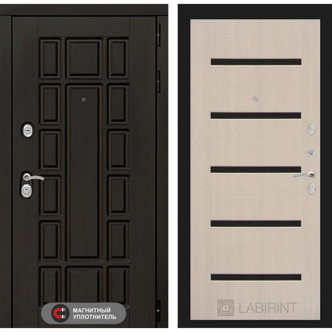 Стальная дверь Лабиринт NEW YORK 01 (Беленый дуб)