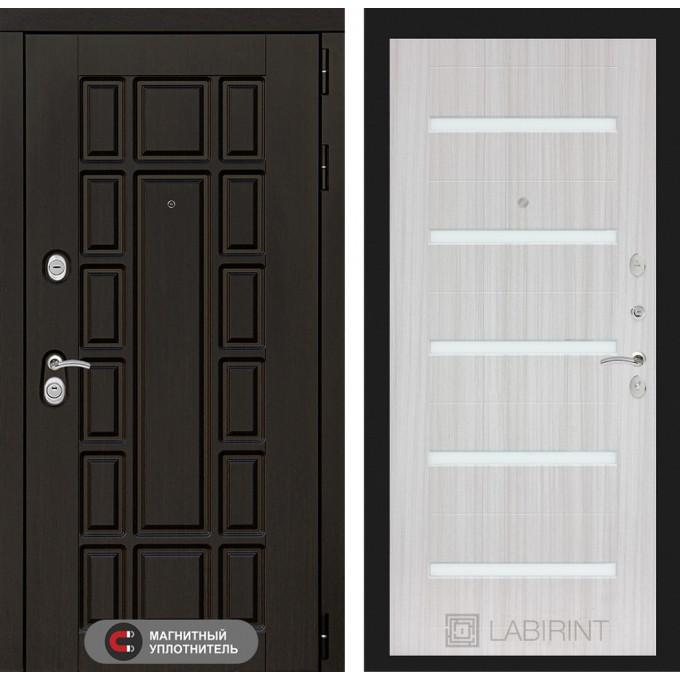 Стальная дверь Лабиринт NEW YORK 01 (Сандал белый)