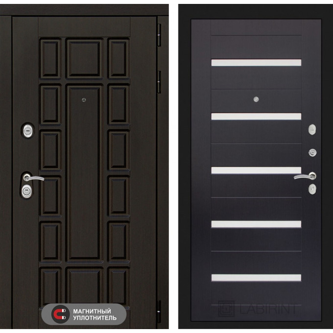 Стальная дверь Лабиринт NEW YORK 01 (Венге)