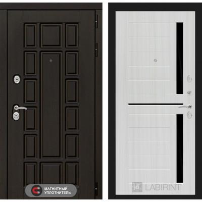 Стальная дверь Лабиринт NEW YORK 02 (Сандал белый)