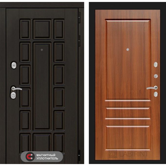 Стальная дверь Лабиринт NEW YORK 03 (Орех бренди)