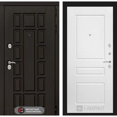 Стальная дверь Лабиринт NEW YORK 03 (Белый софт)