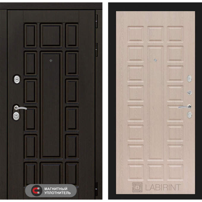 Стальная дверь Лабиринт NEW YORK 04 (Беленый дуб)