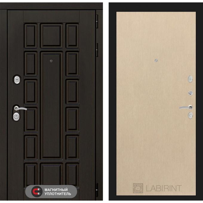 Стальная дверь Лабиринт NEW YORK 05 (Беленый дуб)