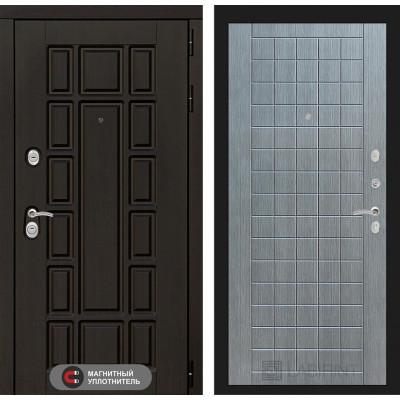 Стальная дверь Лабиринт NEW YORK 09 (Лен сильвер грей)