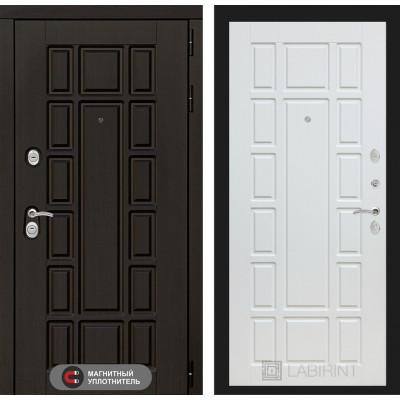 Стальная дверь Лабиринт NEW YORK 12 (Белое дерево)