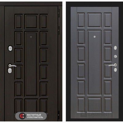 Стальная дверь Лабиринт NEW YORK 12 (Венге)
