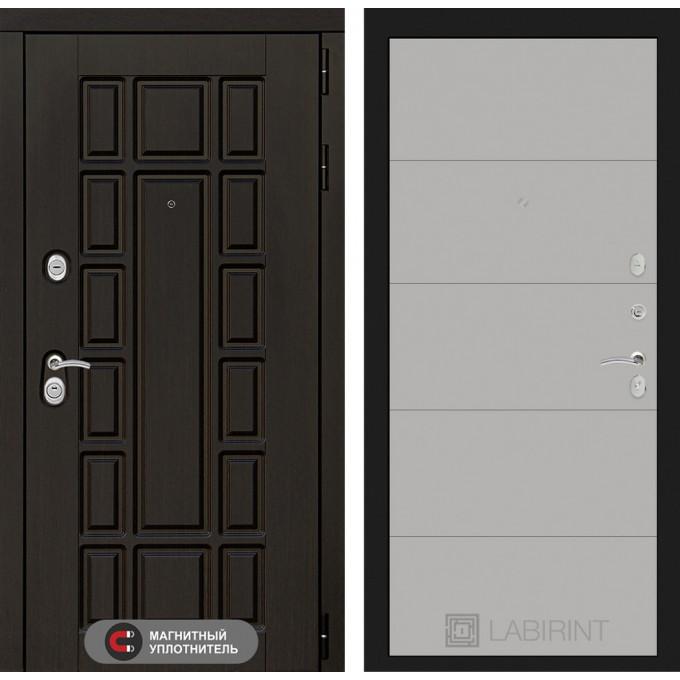Стальная дверь Лабиринт NEW YORK 13 (Грей софт)