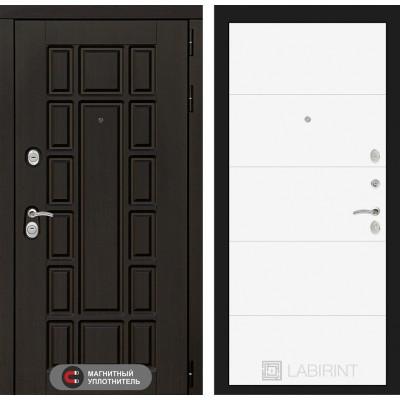 Стальная дверь Лабиринт NEW YORK 13 (Белый софт)