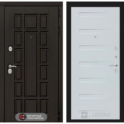 Стальная дверь Лабиринт NEW YORK 14 (Дуб кантри белый)