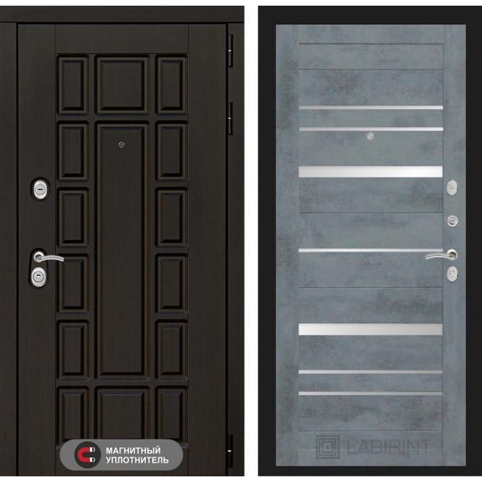 Стальная дверь Лабиринт NEW YORK 20 (Бетон темный)