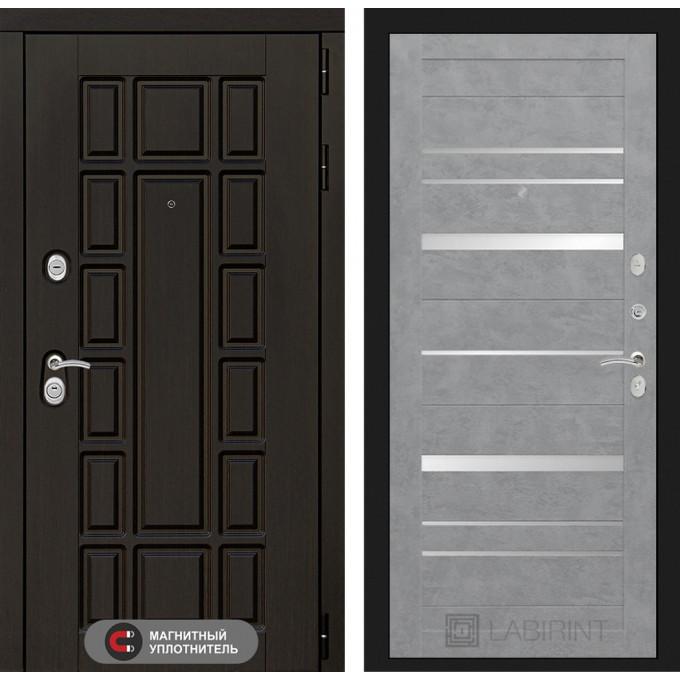 Стальная дверь Лабиринт NEW YORK 20 (Бетон светлый)