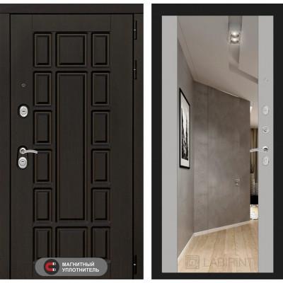 Стальная дверь Лабиринт NEW YORK Максимум с зеркалом (Софт Грей)