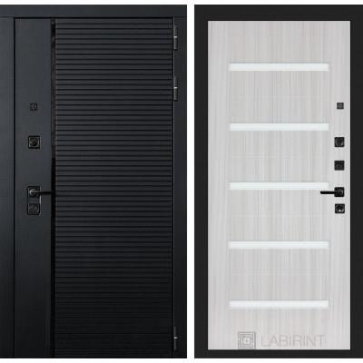 Стальная дверь Лабиринт Пиано 01 (Сандал белый)