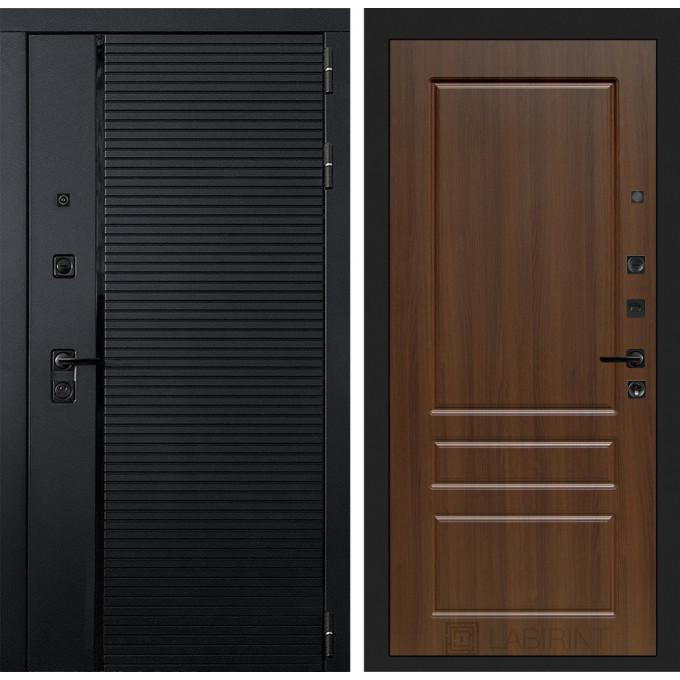 Стальная дверь Лабиринт Пиано 03 (Орех бренди)