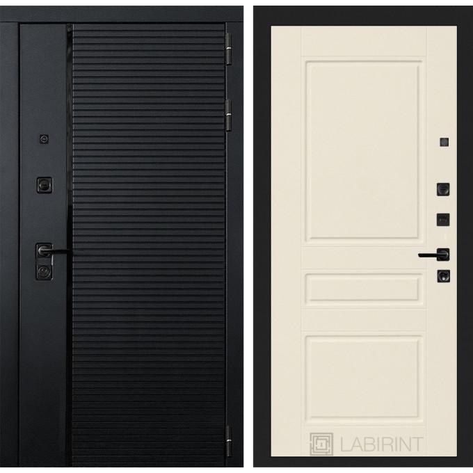 Стальная дверь Лабиринт Пиано 03 (Крем софт)