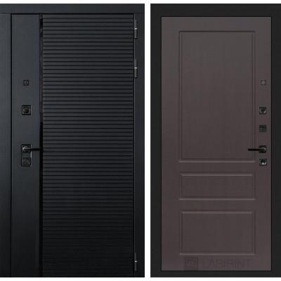 Стальная дверь Лабиринт Пиано 03 (Орех премиум)