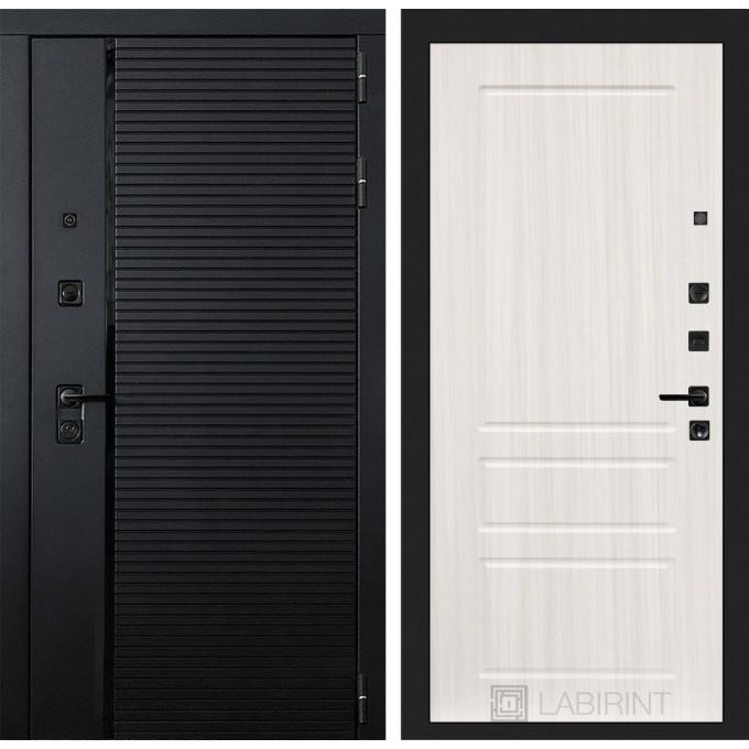 Стальная дверь Лабиринт Пиано 03 (Сандал белый)