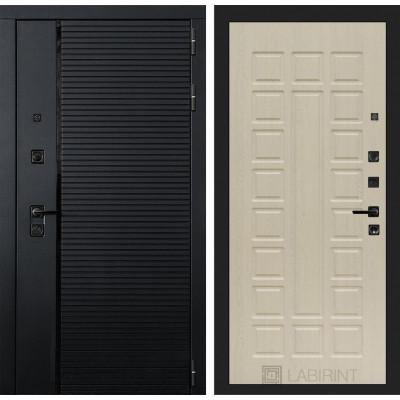 Стальная дверь Лабиринт Пиано 04 (Беленый дуб)