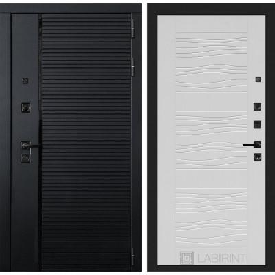 Стальная дверь Лабиринт Пиано 06 (Белое дерево)