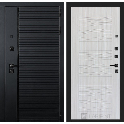 Стальная дверь Лабиринт Пиано 06 (Сандал белый)