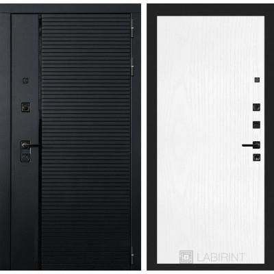 Стальная дверь Лабиринт Пиано 07 (Белое дерево)