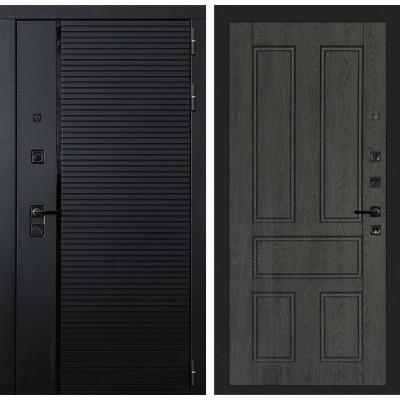 Стальная дверь Лабиринт Пиано 10 (Дуб филадельфия графит)