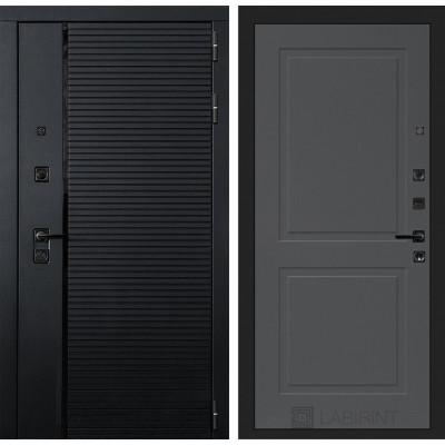 Стальная дверь Лабиринт Пиано 11 (Графит софт)