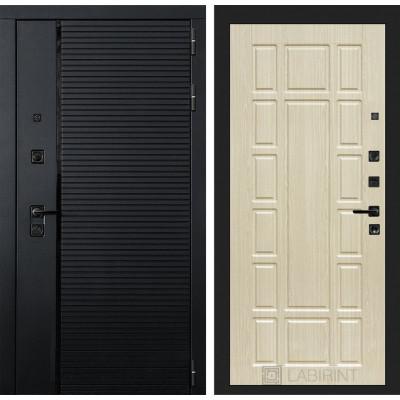 Стальная дверь Лабиринт Пиано 12 (Беленый дуб)