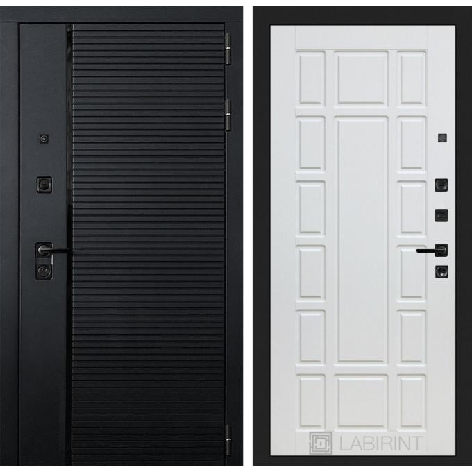 Стальная дверь Лабиринт Пиано 12 (Белое дерево)